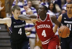 The Hoosiers hung tough through Northwestern's second-half push to scrap out a win in Evanston (Photo credit: AP Photo).