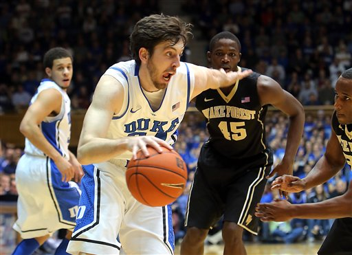 Kelly's Possible Absence Really Hurts Duke's Depth (credit: fayobserver.com)