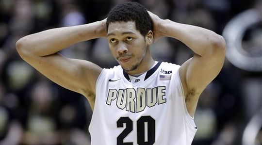 AJ Hammons low minutes has hurt Purdue, but its drop in rebounding has been the biggest issue (AP).