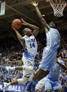 Rasheed Sulaimon was a second-half catalyst in Duke's victory against North Carolina. (AP)
