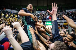 After Laying Low For More Than 44 Minutes, Stevie Taylor Made Himself A Hero to the Bobcat Faithful (Brien Vincent / The Columbus Dispatch)