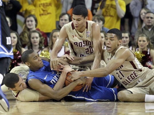 Duke Found Itself in Quite the Scrum at BC Sunday Night
