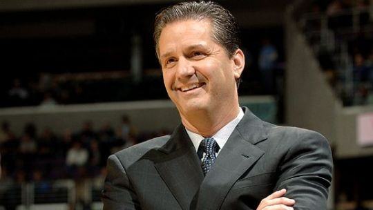 John Calipari is in a good mood with this many All Americans on his roster (AP).