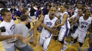 TCU's upset over Kansas was one of the biggest shockers in recent memory (Star-Telegram/Rodger Mallison)