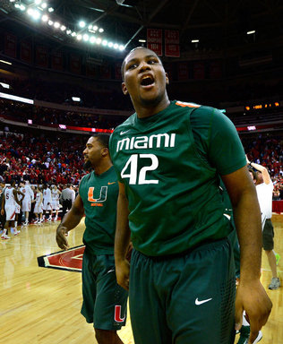 Reggie Johnson's Massive Tip-In Helped the Hurricanes Stay Unbeaten in ACC Play