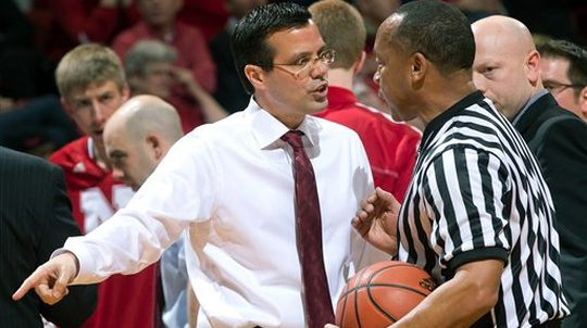 Tim Miles' Huskers lost a costly game last night in Champaign. (Getty)