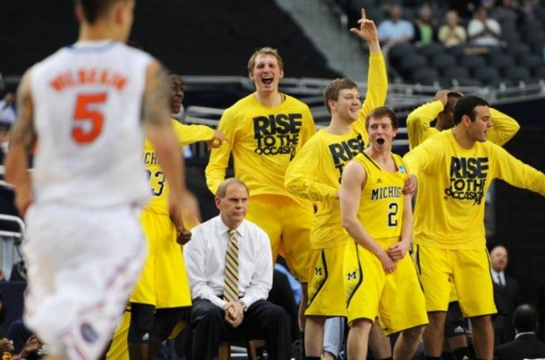 Everybody was impressed with Michigan even if Beilein appeared unenthusiastic at this point (Credit: @nickbaumgardner)