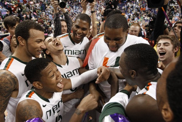 Miami made history in Greensboro. (photo: Chuck Liddy / Raleigh News & Observer)