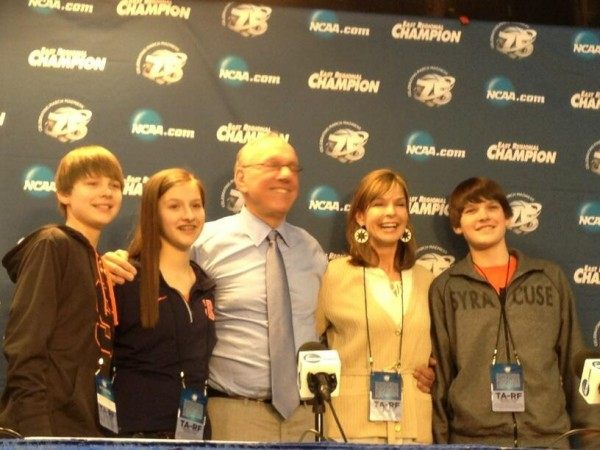 The Boeheims, All Smiles in Washington Tonight