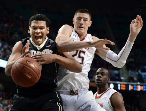 Devin Thomas and the Wake Forest frontline made Alex Len a nonfactor. (photo: Chuck Liddy / Raleigh News & Observer)