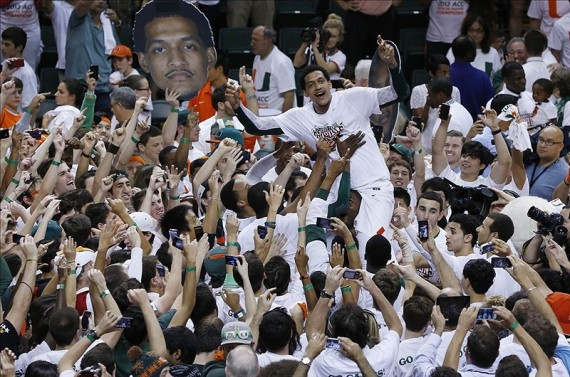 There's Been Plenty Of Reasons To Celebrate For Julian Gamble And The Canes This Season -- How About Adding An ACC Tournament Title To That List?