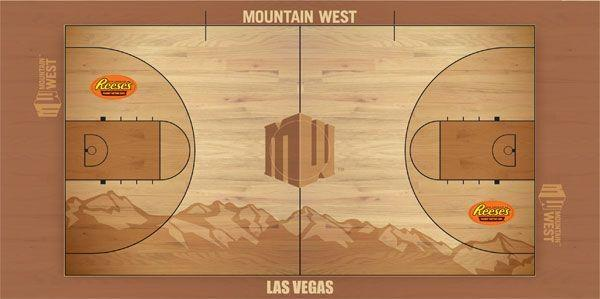The New Mountain West Tournament Floor Began Life As The Women's Final Four Court Last Season
