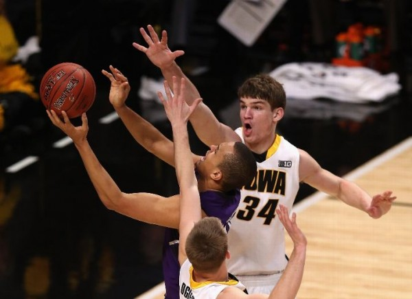 Strong defense helped Iowa get past Northwestern in the opening round of the Big Ten Tournament Thursday night (Getty Images).
