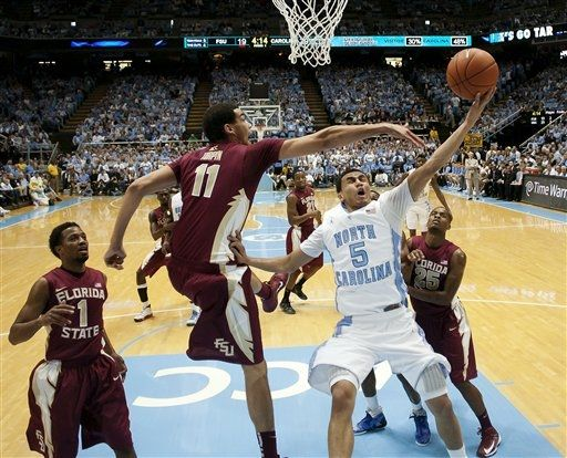Few teams in the ACC have been playing better lately than UNC (AP).