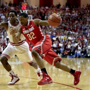 Stingy defense from the Buckeyes hindered Indiana's vaunted offense (AP).