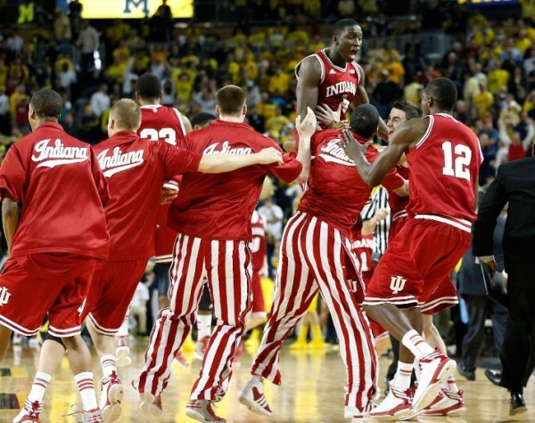 A Big Ten Title was just one of the benefits Indiana will enjoy in the wake of a huge win at Michigan (Gettty Images).