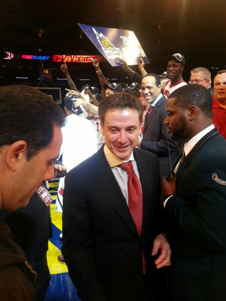 Pitino Was All Smiles After Notching Back-to-Back Big East Titles