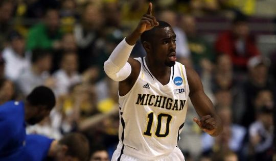 Tim Hardaway Jr. had an outstanding game for Michigan. (Getty)