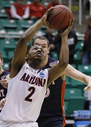 Mark Lyon was the star of the game for Arizona. (AP)
