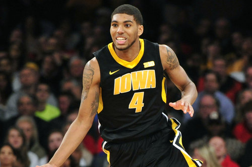 Roy Devyn Marble and the Hawkeyes could see their seed improve with a win against Michigan this week (Joe Camporeale-USA TODAY Sports).
