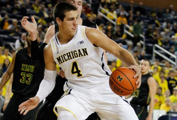 Mitch McGary is poised to be an All-Big Ten player next year … if he returns. (Getty Images).