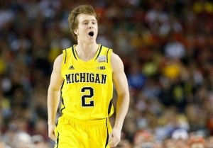 As Stauskas struggled to find his stroke, Albrecht and LeVert helped defuse Michigan's backcourt foibles (Getty Images).