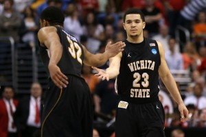 The Biggest underdog left in the field, Wichita State faces a tough matchup Saturday against Louisville (Getty Images).