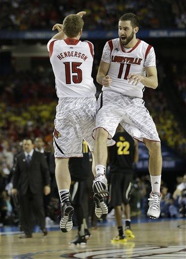 The driving forces behind Louisville's second half run, Henderson and Hancock, pushed Louisville over the top Saturday night (AP Photo).