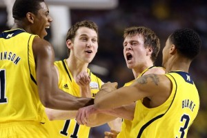 An enormous burst of energy from Albrecht gave michigan a huge jolt in the first half (Getty Images).