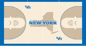 Another new court design proves schools are taking artistic court stylings more seriously (Buffalo Athletics).