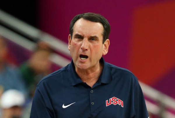 Making another run at Olympic glory, and picking up Coach K to lead the charge, is a wise move by Colangelo (Getty Images).