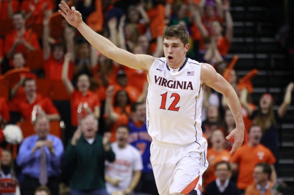 UVA's Joe Harris has a lot to celebrate with Virginia's winning ways. (USA Today).