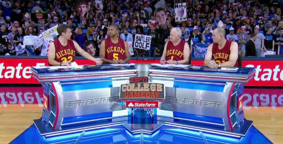 The College Gameday Crew Has A Winter Of Titanic College Hoops Matchups Ahead Of Them, But No Return Trip To Hinkle Fieldhouse Means We Are Probably Safe To Avoid The Crew's Hickory High Jerseys This Season