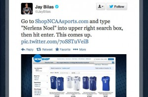 """These Instructions Wouldn't Have Worked A Few Hours After Jay Bilas Tweeted Them Out, But Look What Randomly Emerges When Searching For """"Nerlens Noel"""" On The NCAA Store's Site!"""