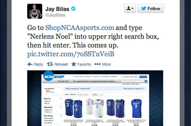 "These Instructions Wouldn't Have Worked A Few Hours After Jay Bilas Tweeted Them Out, But Look What Randomly Emerges When Searching For ""Nerlens Noel"" On The NCAA Store's Site!"