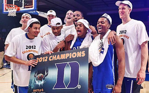 Duke Celebrates the 2012 Battle 4 Atlantis Tournament Championship  (Photo Credit: cbssports.com)