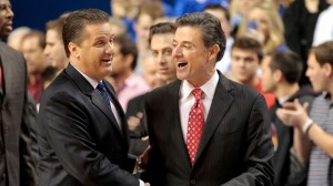 ESPN.com John Calipari (left) and Rick Pitino might not be all smiles when their teams square off Dec. 28 in Rupp Arena.
