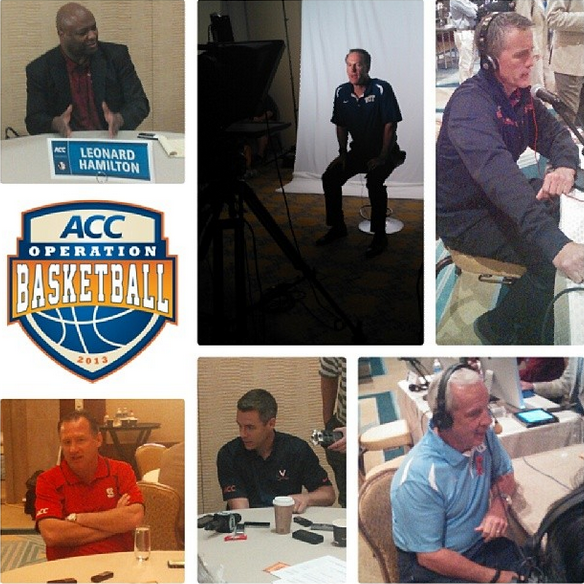 ACC Coaches Doing Their Favorite Thing: Talking With the Media (credit: ACC)