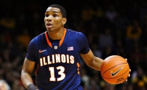 Tracy Abrams will need to be more effective in his point guard duties this season for the Illini to get back to the tournament (Eric Gay/AP)