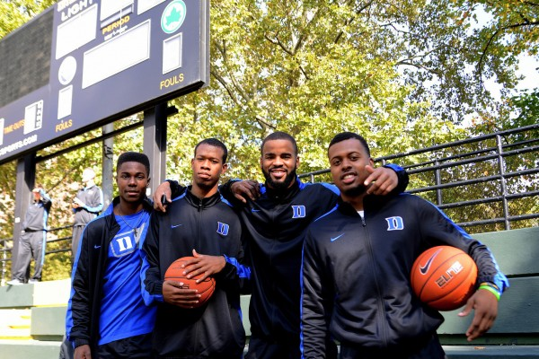 Duke Players at NYC's Historic Rucker Park Courts (credit: GoDuke.com)