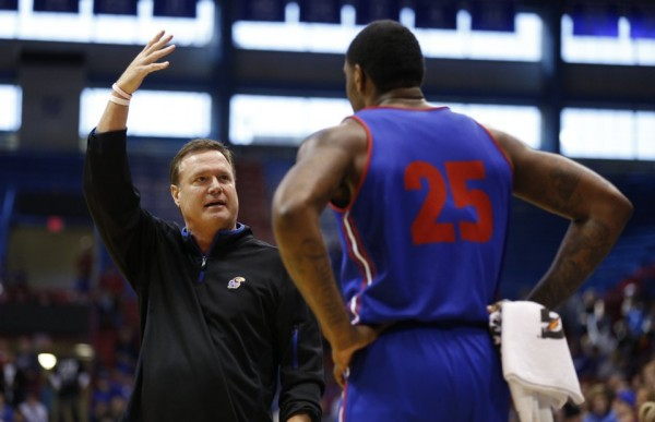 Bill Self Teaching at Kansas' Open Practice Saturday Morning