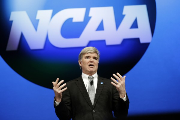 Mark Emmert and the NCAA seemed bigger than life before handing down Miami's judgement. (AP Photo/LM Otero)