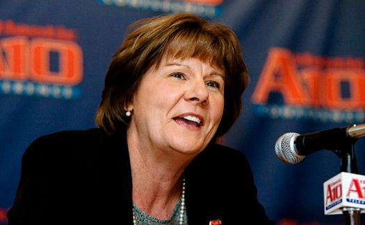It has been a whirlwind 18 months for Bernadette McGlade and the A10 conference. (AP)