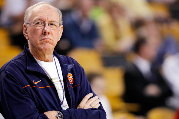 It's clear Boeheim doesn't believe student-athletes should be paid (US Presswire)