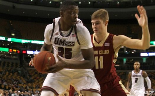 Big man Cady Lalanne has been outstanding for UMass. (Maria Uminski/ Massachusetts Daily Collegian)