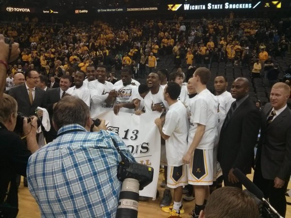 Wichita State captured a heard-earned banner Tuesday night in Kansas City.
