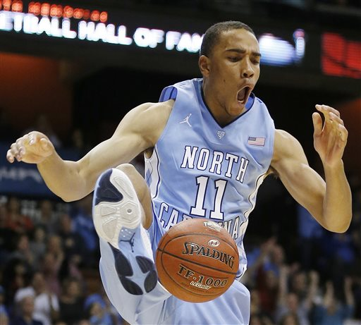 Brice Johnson had 13 points off the bench in Carolina's win over Louisville. (credit: collegebasketball.ap.org)