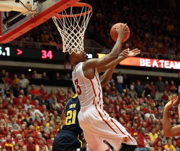 Melvin Ejim and the Cyclones don't have much time to celebrate their big win over Michigan. (USATSI)