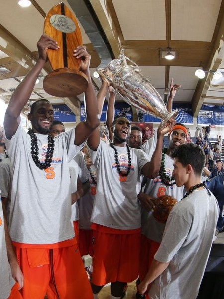 Syracuse recovered from early-season struggles to take the Maui Invitational (credit: USAToday)