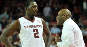 Houston transfer Alandise Harris is Arkansas' leading scorer through three games.